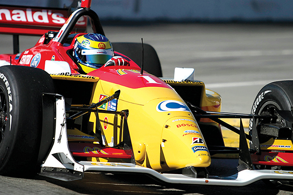 Sebastien pilots his McDonalds-sponsored Champ Car to multiple championships