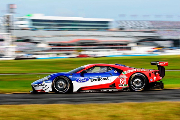 Sebastien pilots a Chip Ganassi Ford GT around Daytona International Speedway for the Rolex 24 at Daytona